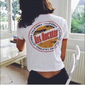 Brandy Melville Los Angeles California Logo Tshirt